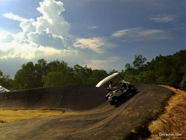 newest ride in Tampines Bike Park, Bumpy Buggy Berm Ride.