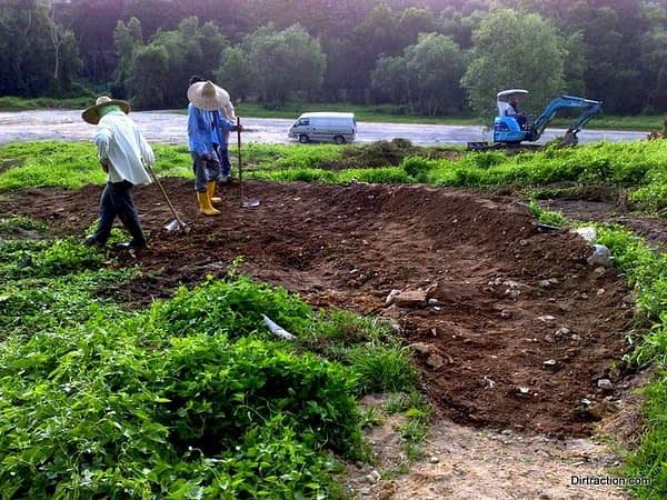base layer, fresh drainage dug out everywhere