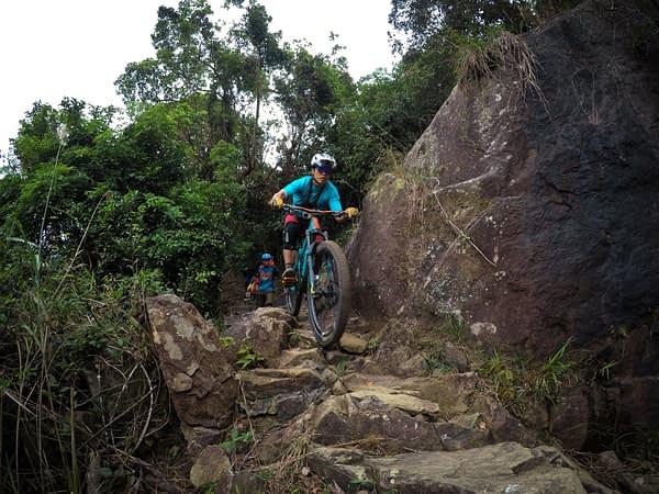 MountainBikeTrails HongKong TaiLam HoPui LandSlideSection RockFeature